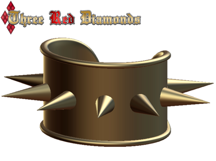 Spike Cosplay Cuff 3d printed Digital Blender Render
