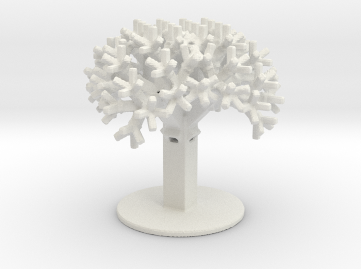 Rectangular Fractal Tree 3d printed