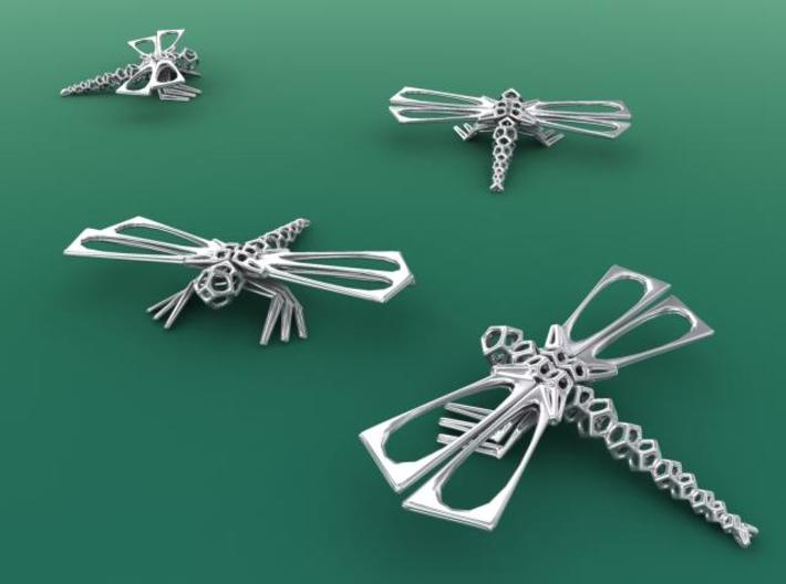 DragonFly 3d printed Silver render