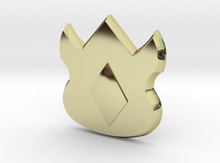Pokemon Kanto Volcano Badge 3d printed
