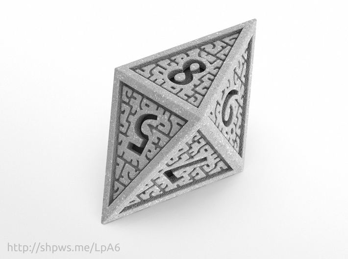 Hedron D8 Closed (Solid), balanced gaming die 3d printed
