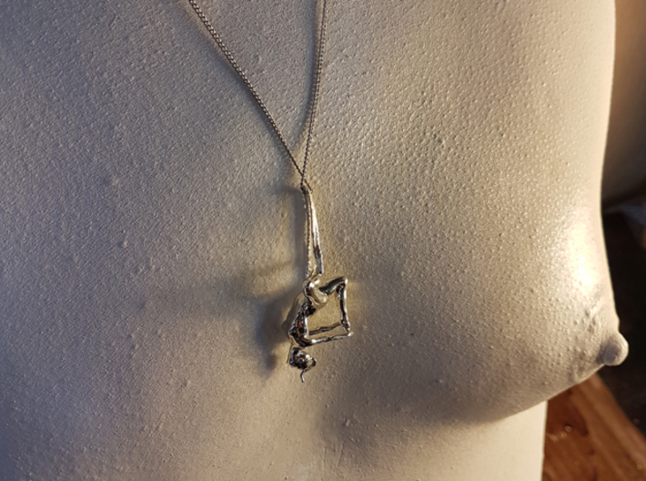 """""""Yurte""""  pendant 3d printed The chain is not included."""