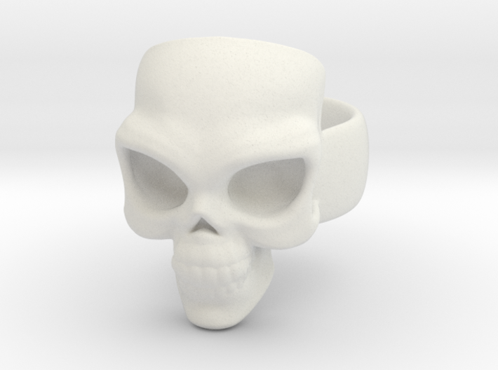 Skull Ring 'Sole'  3d printed