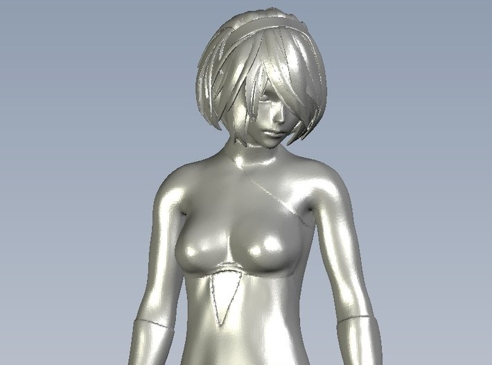 1/24 scale sexy girl on high heels figure A 3d printed