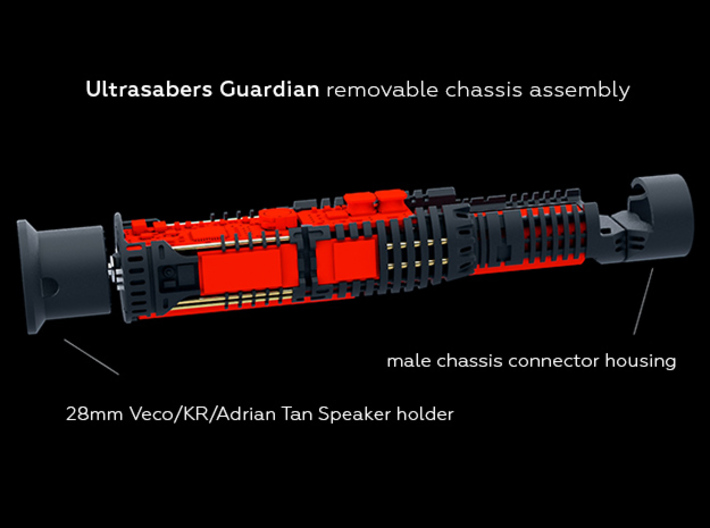 US Guardian Chassis Veco speaker holder 3d printed