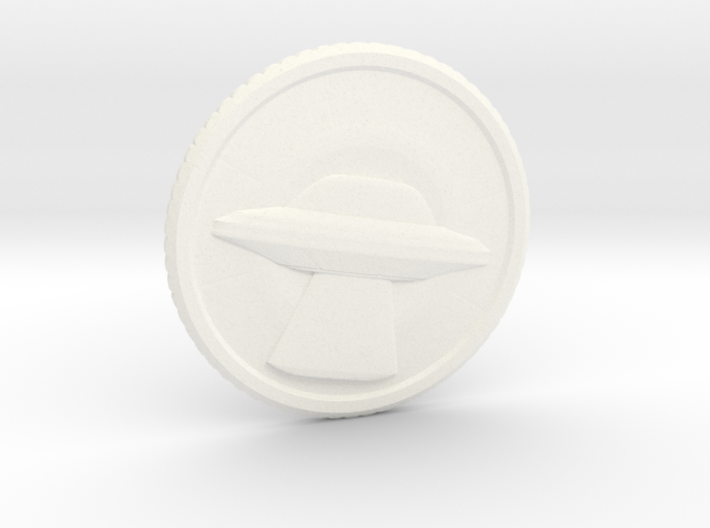"Invasion coin (1.4"") 3d printed"