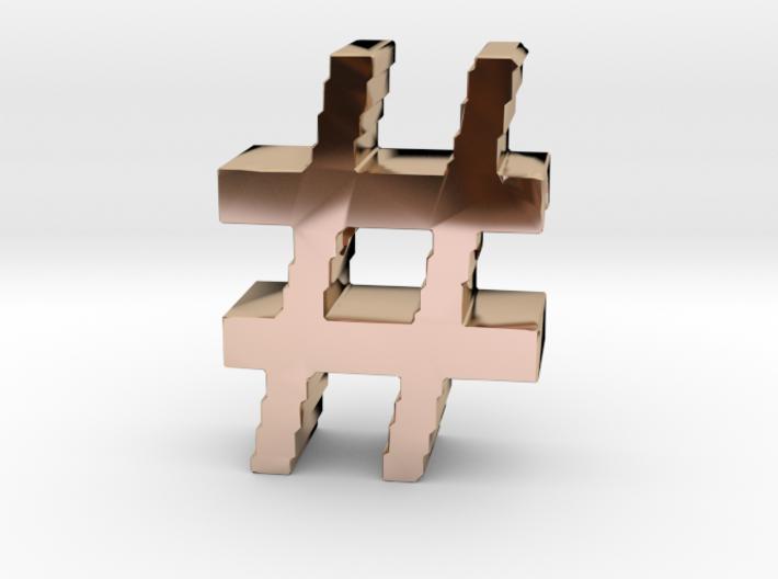 Hashtag Necklace Pendant 3d printed