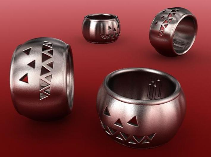 Pumpkin Ring 3d printed Stainless St. render