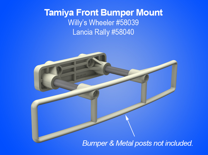 Tamiya RC Bumper Mount for Vintage Willy's Wheeler 3d printed