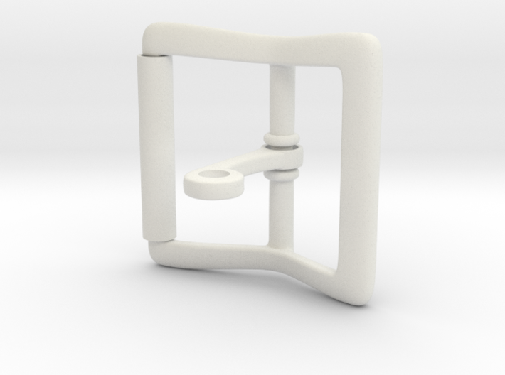 Locking Tongue Roller Buckle (4cm) 3d printed