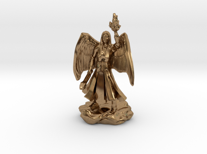 Female Aasimar Cleric With Mace 3d printed