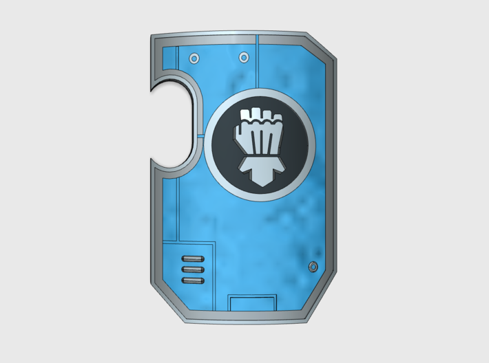 10x Clenched Fist - Marine Boarding Shields w/Hand 3d printed
