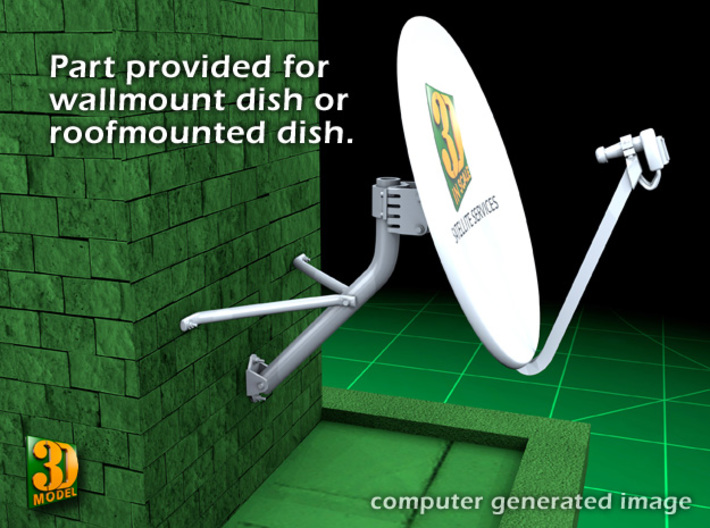 Satellite dish (30mm) - double pack 3d printed satellite dish 30 mm double pack - wall mount
