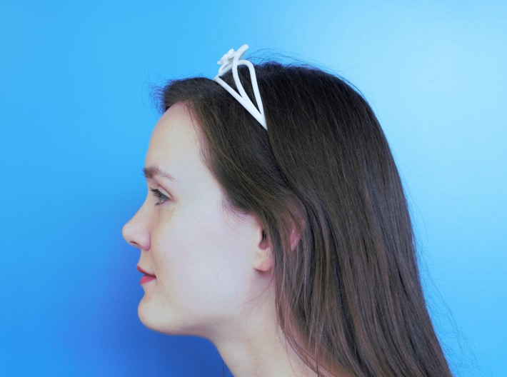 Flower Tiara 3d printed