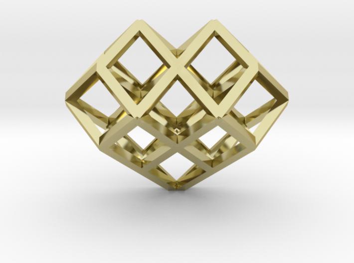 Lattice Heart Pendant 3d printed