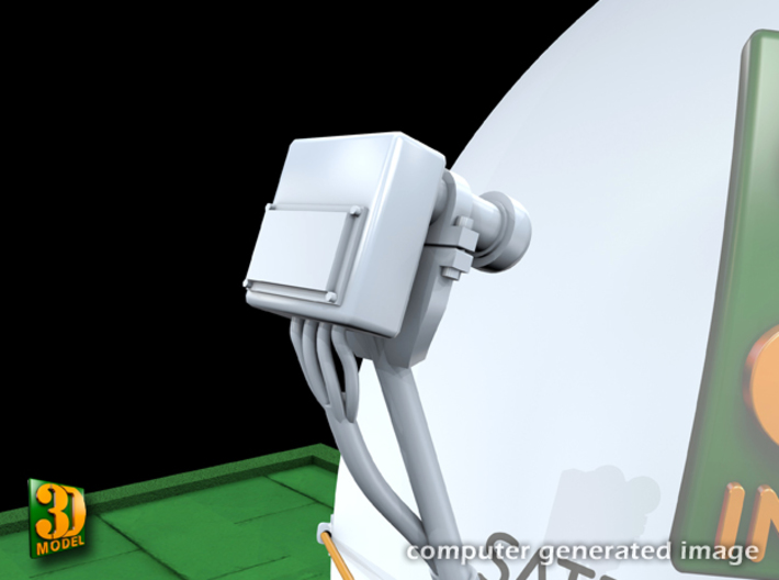Satellite dish (30+60mm) - set 3d printed Satellite dish set (2x30mm+60mm) - 60mm - head
