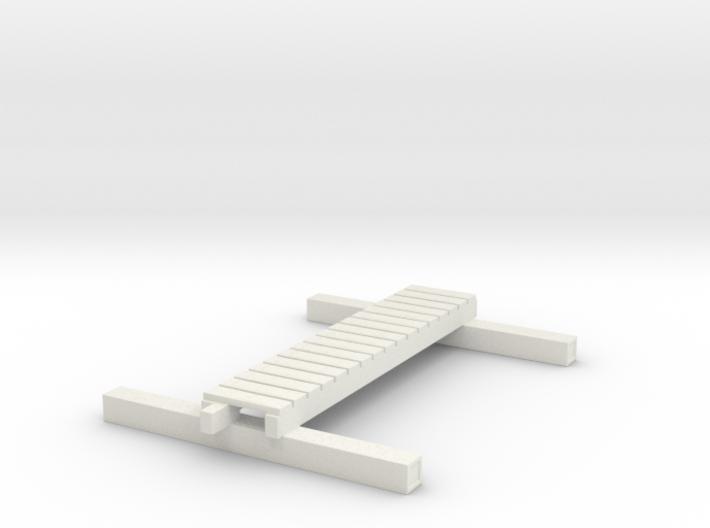 1/87 Scale M1938 Foot Bridge 3d printed