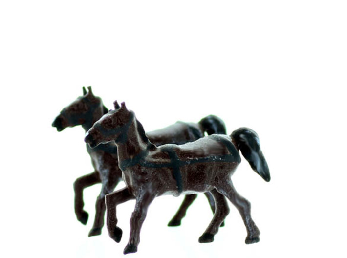 HORSE with REINS N scale 3d printed
