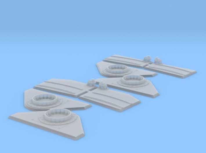 1/48 Torpedo Tube Turntables and Slides 3d printed