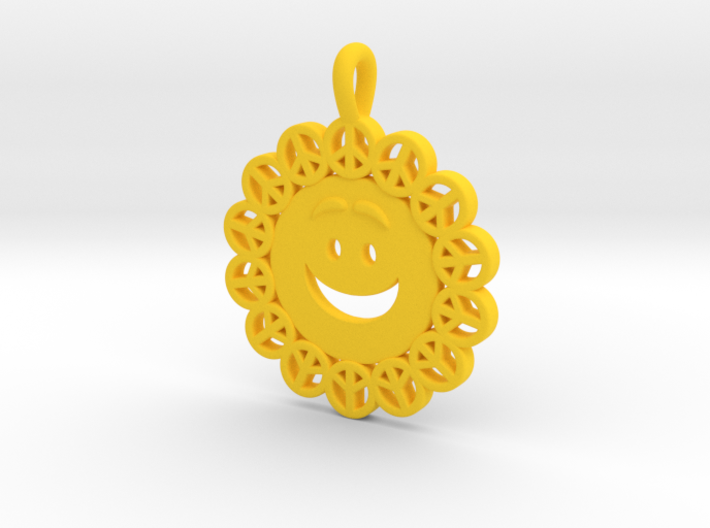 25- PEACE-CIRCLES_ smiley 3d printed