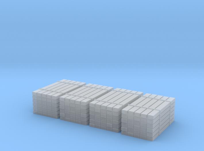 N Scale 4 Ties Stacks 3d printed