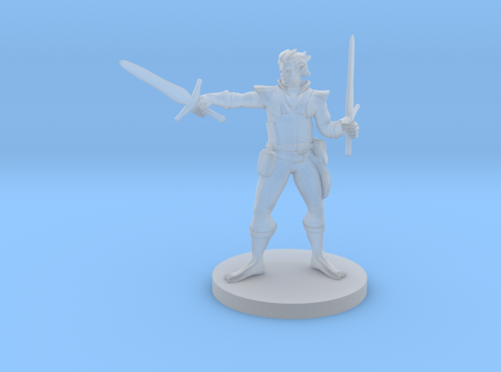 Elven Two Weapon fighter no shoes 3d printed