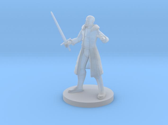 Human Male Blade Warlock 3d printed