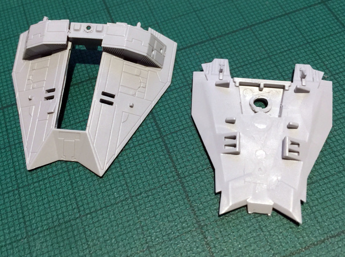 Snow speeder Canopy, Open, 1:144 3d printed And this is the stuff you have to cut out. Bandai model not included!