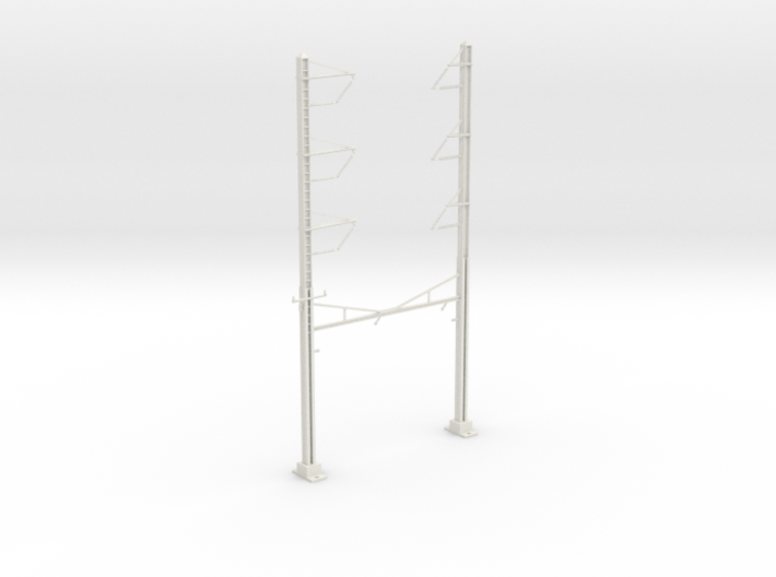 PRR CH 3PHASE+3PHASE CATENARY STEADY CURVE 3d printed
