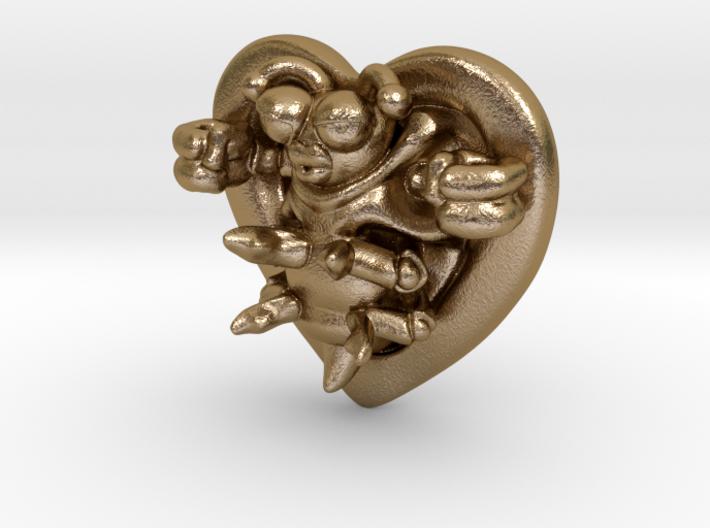 Lovebug Necklace Charm 3d printed
