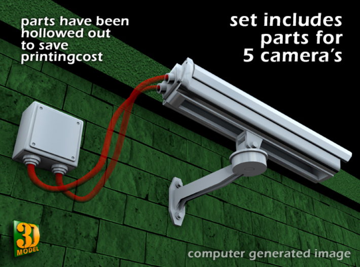 Surveillance Camera (type1 - 1/24) 3d printed surveillance camera Type1 - set of 5