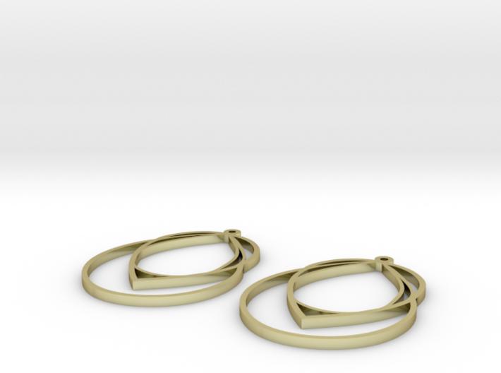 droplet earrings 3d printed