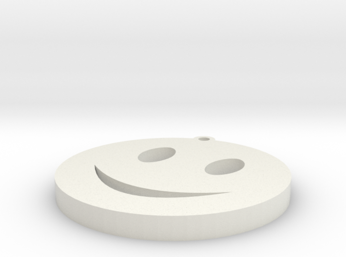 smiley keychain 3d printed