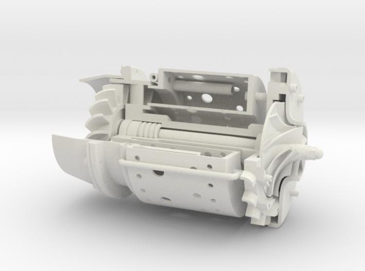 Turbine Jet engine cutaway 3d printed