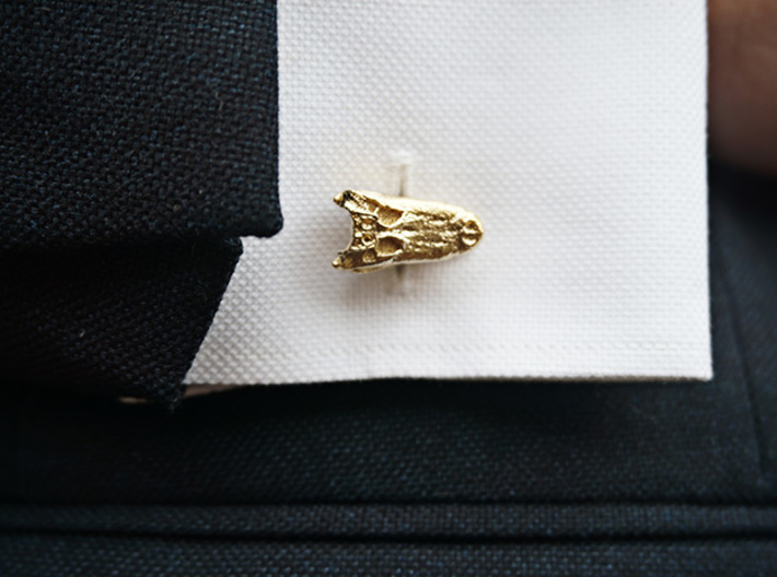 Alligator (Gator) Cufflinks 3d printed