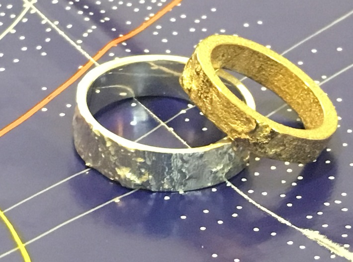 Lunar Landing Site Female (Thin) Moon Ring - Silve 3d printed