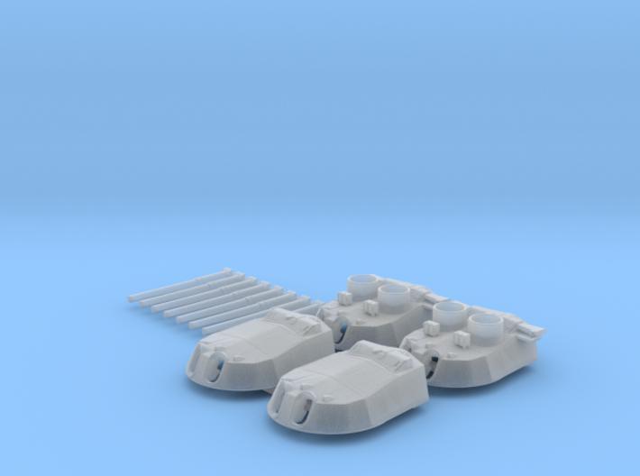 """1/600 15"""" MKI* HMS Warspite Guns 1942 x4 3d printed 1/600 15"""" MKI* HMS Warspite Guns 1942 x4"""