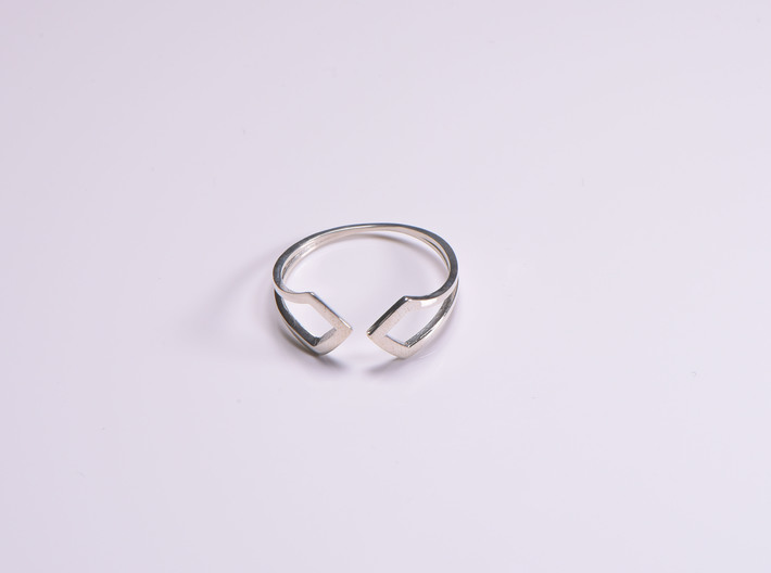 HIDDEN HEART Smooth, ring US size 10.5 , d=20,2mm 3d printed