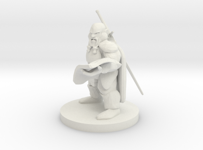 Dwarven Cartographer Fighter 3d printed