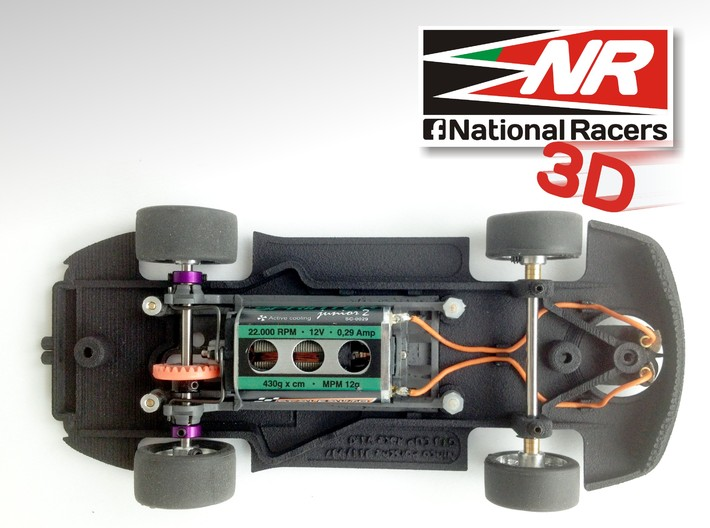 3D Chassis - Ninco Porsche 997 GT3 CUP (Combo) 3d printed