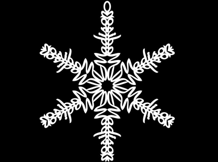 Madison snowflake ornament 3d printed