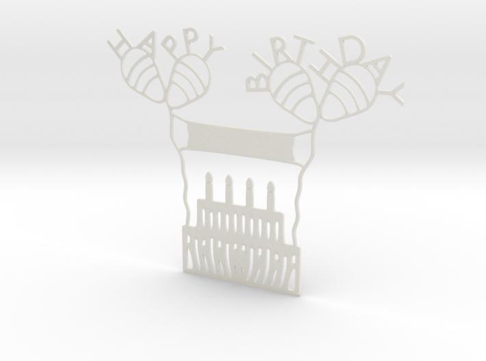 Birthday Cake 3d printed