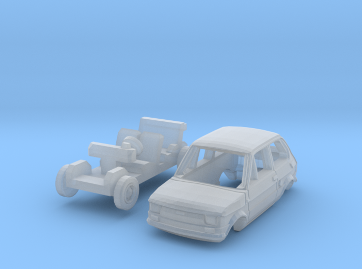 Fiat 126 (TT 1:120) 3d printed