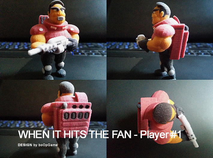 """""""When It Hits The Fan"""" Retrogame - Player #1 3d printed """"When It Hits The Fan"""" Retrogame - Player #1"""