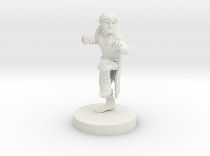 Halfling Monk 3d printed