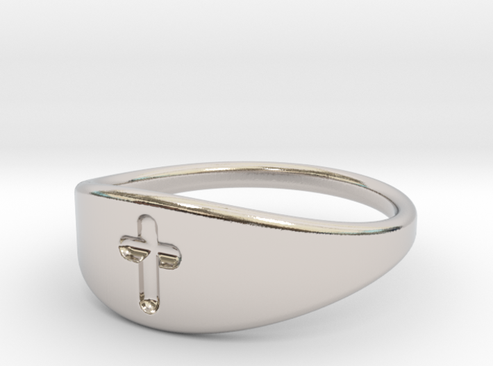 Cross ring A (US sizes 5.75 – 9.75) 3d printed