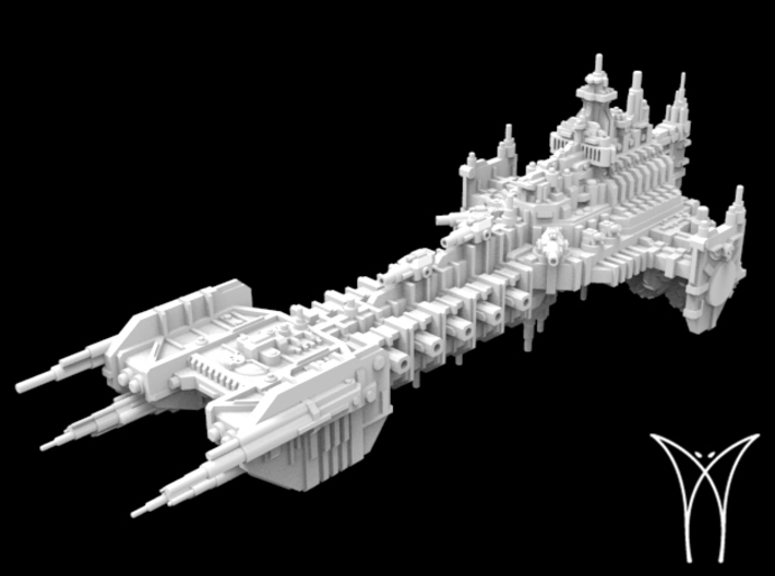 Intrepid class Space Barge 3d printed