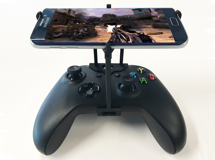 Xbox One S controller & Apple iPhone 8 Plus - Over 3d printed Xbox One S UtorCase - Over the top - Front