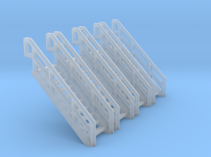 Z Scale Industrial Stairs 10 (4pc) 3d printed
