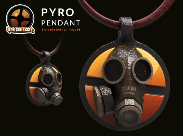 Team Fortress 2 - Pyro Collectible Pendant | Keych 3d printed